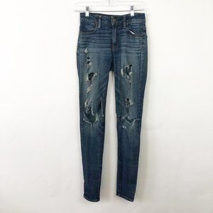 American Eagle High-Rise Jeggings Distressed 00